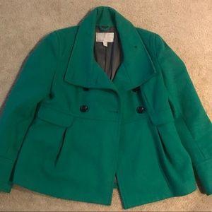 Green winter coat Size S